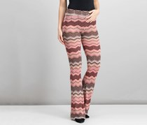 Macbeth Collection Women's Casual Chevron Pant, Pink Combo