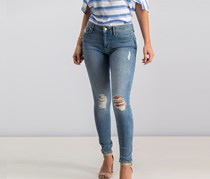 Sanctuary Andie Wash Distressed Skinny Jeans, Light Wash