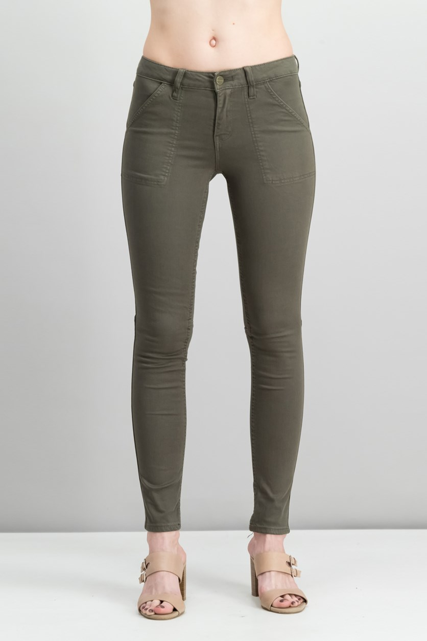 Women Admiral Skinny Utility-Pocket Jeans, Fatigue