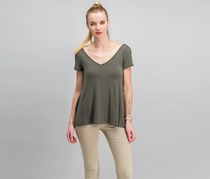 Hippie Rose Juniors Strappy-Back T-Shirt, Elegant Moss