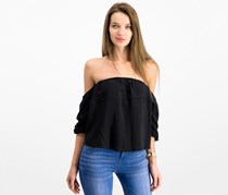 Hippie Rose Juniors' Off-The-Shoulder Top, Black