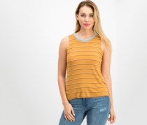 Hippie Rose Juniors' Striped Tank Top, Gold Combo