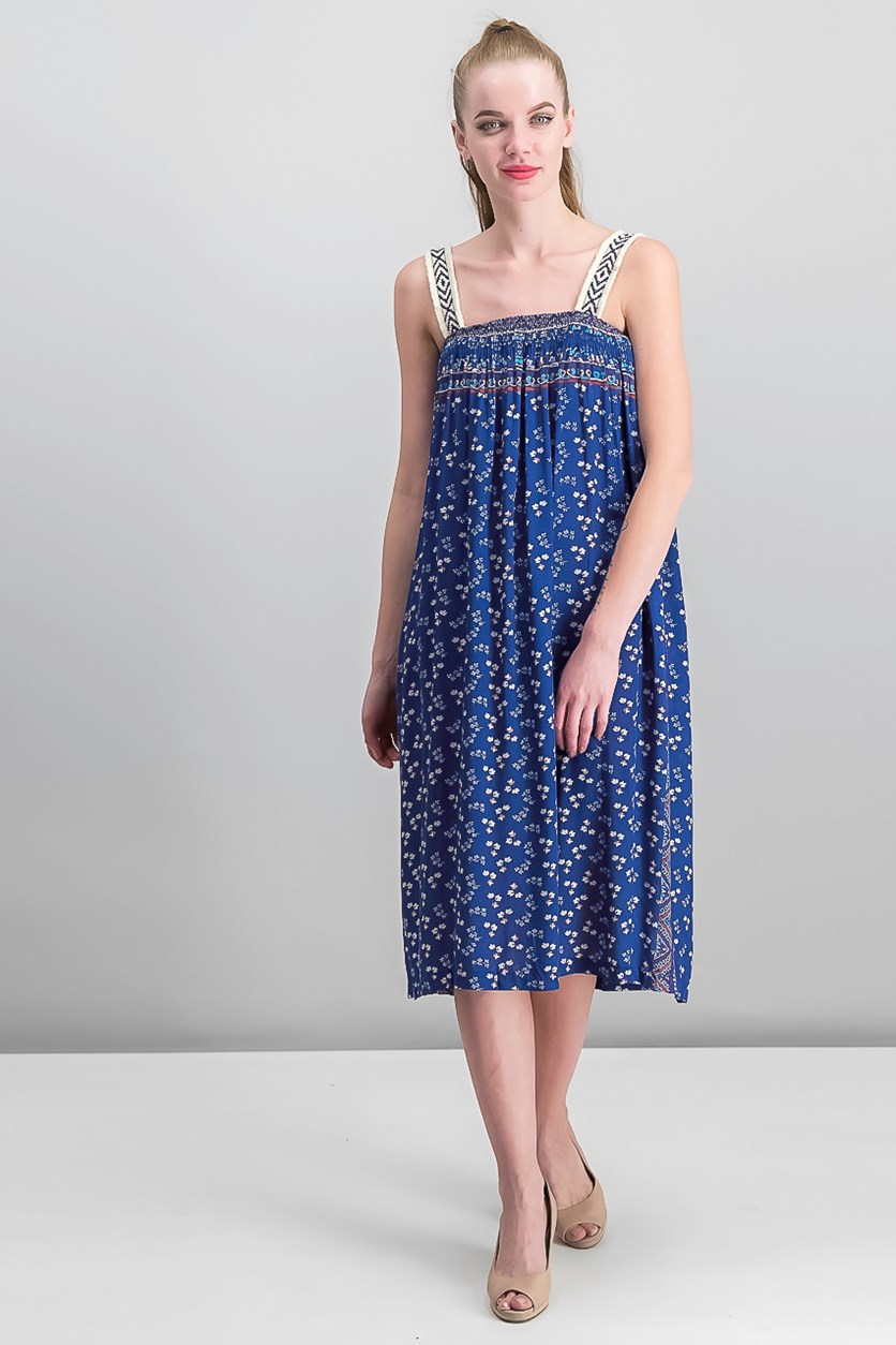 Women's Floral Dress, Navy