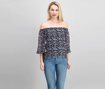 Beltaine Paloma Off-The-Shoulder Top, Black Combo