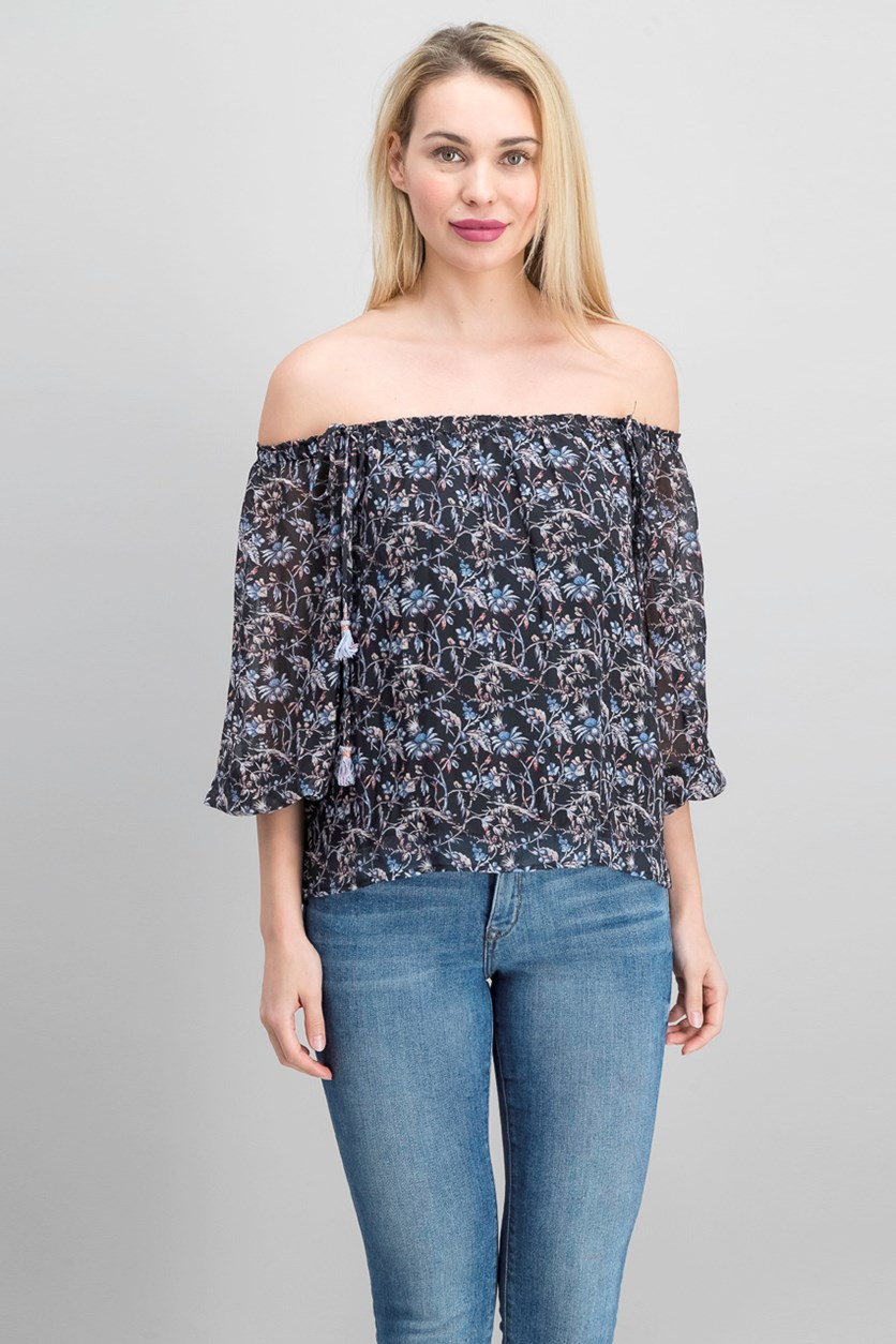 Paloma Off-The-Shoulder Top, Black Combo