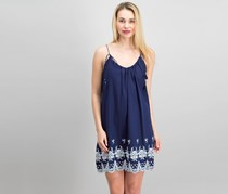 Beltaine Woven Pullover Cocktail Dress, Navy