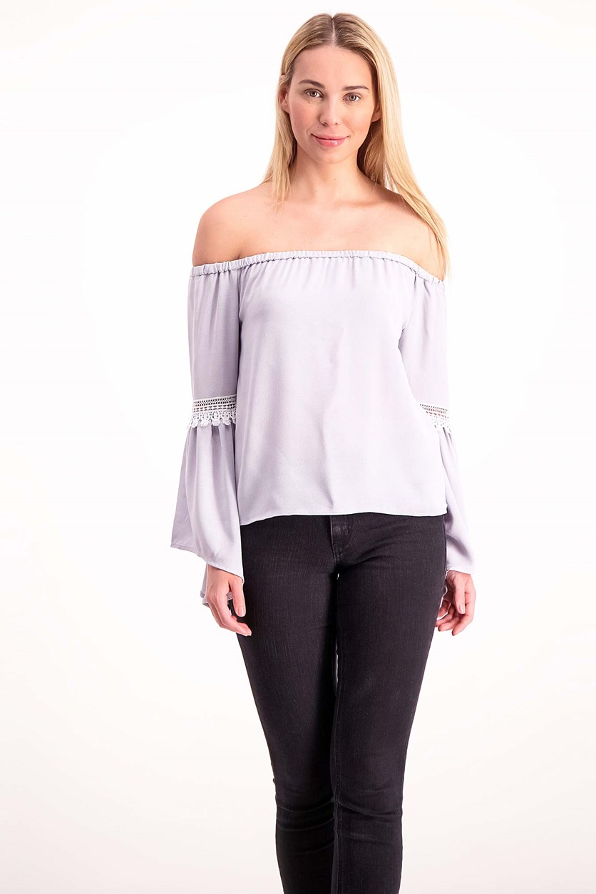 Women's Off Shoulder, Sky Blue