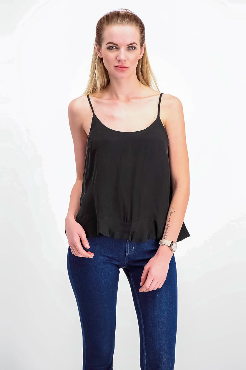 Women's Flowy Sleeveless Top, Black