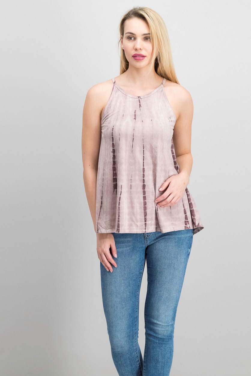 Womens Halterneck Top, Dusty Rose