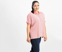Ralph Lauren Striped Poncho-polo Shirt, Red/white