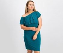 Women's Ruffle Bodycon Dress, Jade