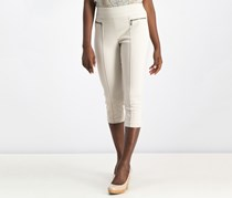 Style & Co Petite Pull-On Cropped Pants, Stonewall