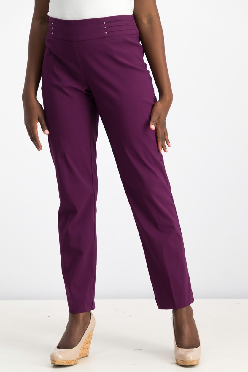 Studded Pull-On Pants, Pickled Beet