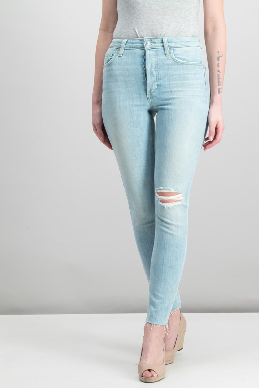 Charlie Ankle in Kelis Jeans, Washed Light Blue