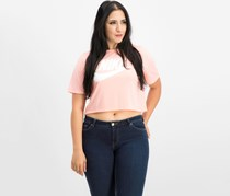 Nike Essential Cropped Top, Bleached Coral/Sail