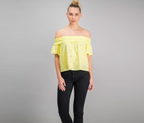 Juniors Off-The-Shoulder Eyelet, Yellow