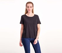 French Connection Womens Short Sleeve Top, Black