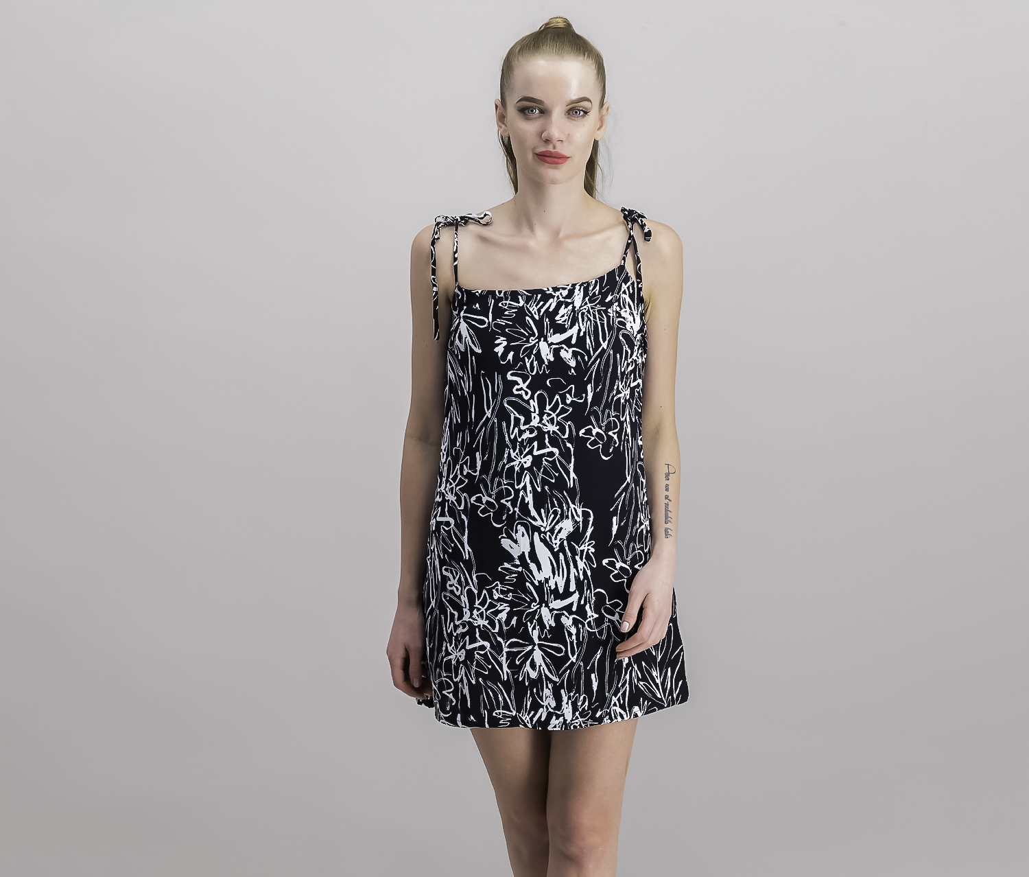French Connection Women's Printed Dress, Black