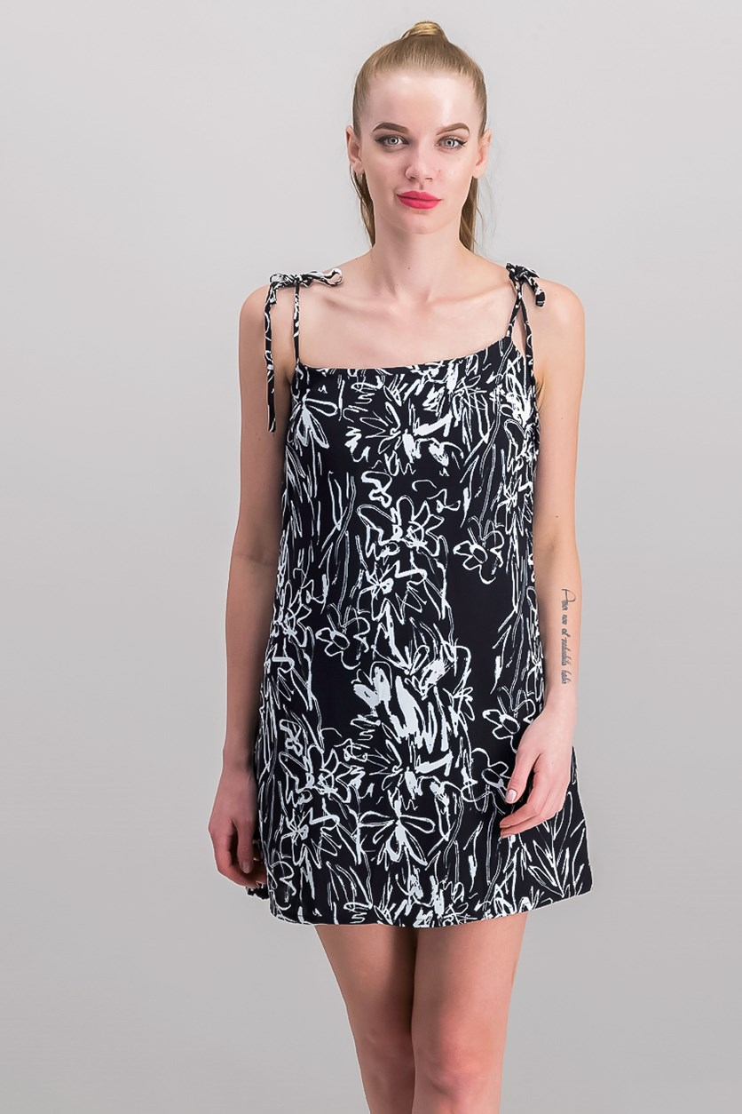 Women's Printed Dress, Black