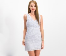 French Connection Women's Schiffly Cage V-Neck Dress, Salt Water