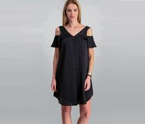 Rachel Roy Cold-Shoulder Shift Dress, Black