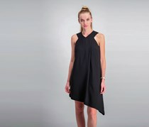 Rachel Roy Asymmetrical Shift Dress, Black
