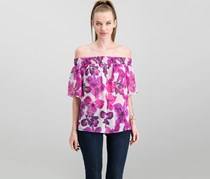 Rachel Roy Off-The-Shoulder Top, Cream/Pink Iris