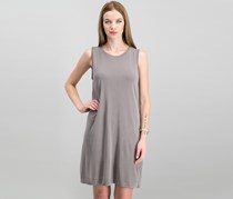 Women Coco Draped Shift Dress, Driftwood