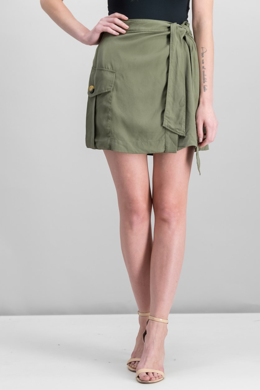 Wrap Utility Skirt, Army Green