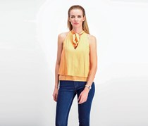 Bishop + Young Women's Tie Neck Tank, Sunset