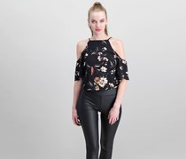 Bishop + Young Women's Floral Top, Black