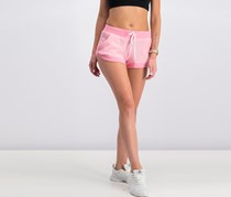 Notch-Hem French Terry Shorts, Pink Shock