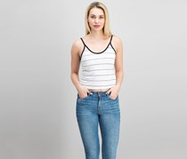 Michelle by Comune Striped Tank Top, White/Black
