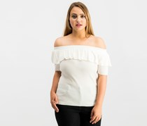 Hooked Up Women's Off The Shoulder Top, White