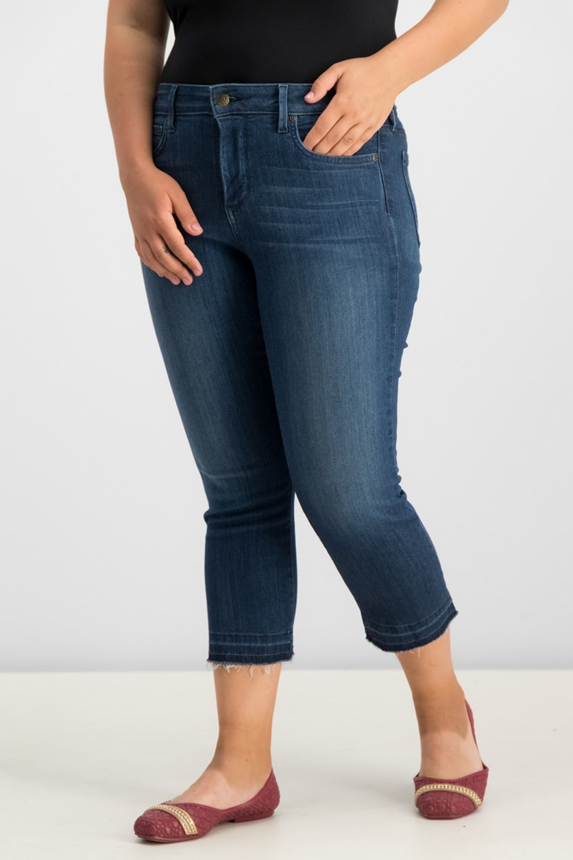 Women  Released-Hem Capri Jeans, Lark Blue