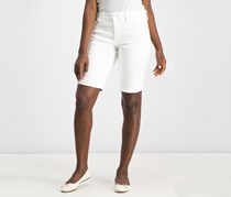 Nydj Briella Denim Bermuda Shorts, White