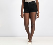 Pull & Bear Women's  Denim Short, Black