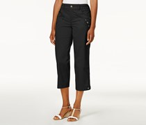 Style & Co Tab-Pocket Capri Pants, Black