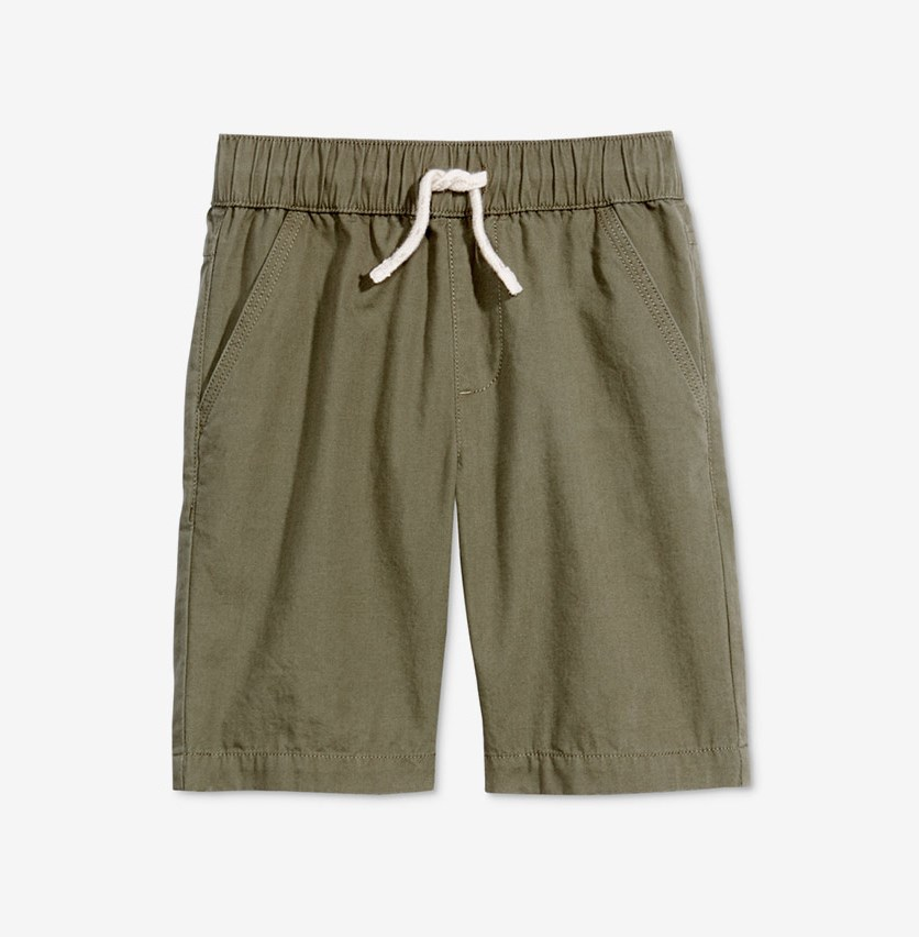 Toddler Boys Pull-on Shorts, Dark Sprout