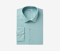 Bar Iii Men's Slim-Fit Stretch Dress Shirt, Green/White