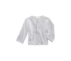 Baby Boys Marled Snap-Front Cardigan, Grey Jewel