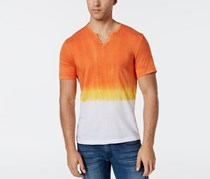 International Concepts  Men's Split-Neck Dip Dyed T-Shirt, Sparkling Sun