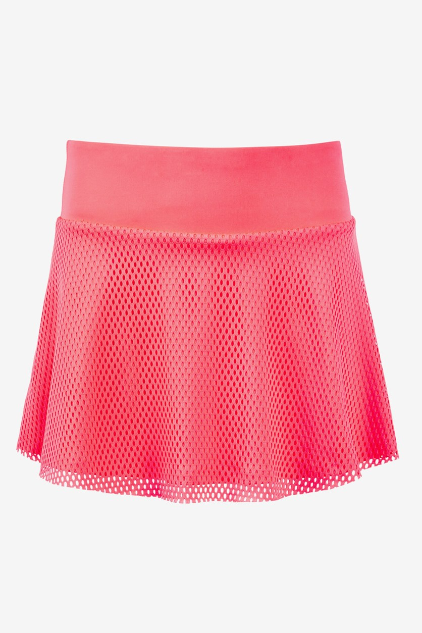 Kids Girl Mesh Skirt, Flamingo Pink