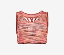 Big Girl Space-Dye Sports Bra, Peach Neon