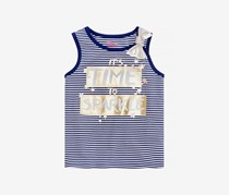 Striped Graphic-Print Tank Top, Medieval Blue