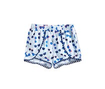 Epic Threads Little Girls Printed Pom Pom-Trim Shorts, Baby Blue