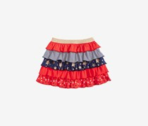 Epic Threads Girls Ruffled Scooter Skirt, Tomato