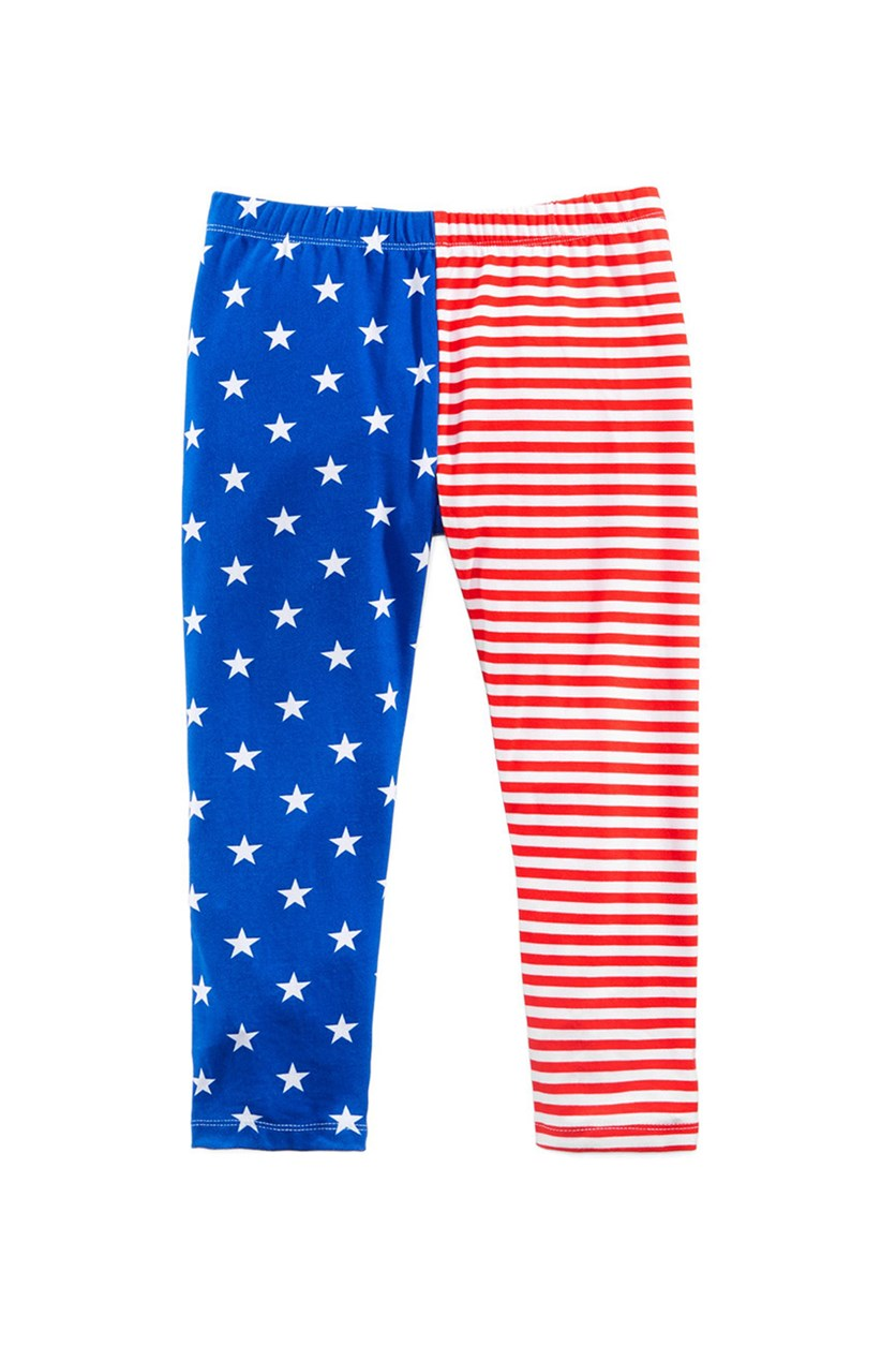Printed Capri Leggings, Americana