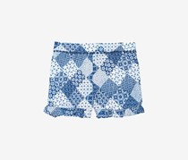 Epic Threads Ruffle-Trim Printed Shorts, Blue