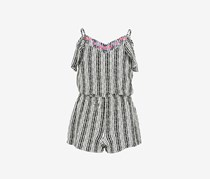 Epic Threads Big Girls Striped Romper, Holiday Ivory
